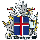 Vektor-bild der nationalen wappen von island — Stockvektor
