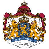 Vector coat of arms of Netherlands — Stock Vector