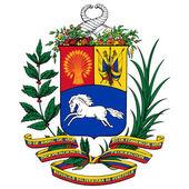 Vector coat of arms of Venezuel — Stock Vector