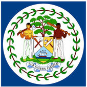 National arms of Belize — Stock Vector