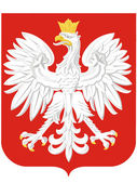 National arms of Poland — Stock Vector