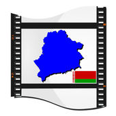 Film shots with a national map of Belarus — Stock Vector