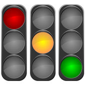 Vector image traffic light — Stock Vector