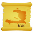Vector parchment with a silhouette of Haiti - Imagen vectorial