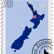 Stock Vector: Vector stamp with image maps of New Zealand