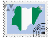 Vector stamp with the image maps of Nigeria — Stock Vector