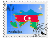 Vector stamp with the image maps of Azerbaijan — Stock Vector