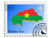 Vector stamp with the image maps of Burkina Faso — Stock Vector