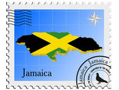 Vector stamp with the image maps of Jamaica — Stock Vector
