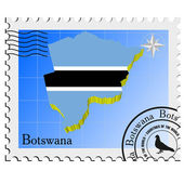 Vector stamp with the image maps of Botswana — Stock Vector