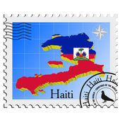 Vector stamp with the image maps of Haiti — Stock Vector
