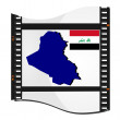 Vector image footage with a map of Iraq — Stock Vector