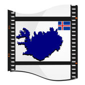 Vector image footage with a map of Iceland — Stock Vector