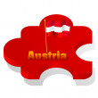 Royalty-Free Stock Vector Image: Vector illustration of puzzle with a flag of Austria