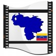 Film shots with a national map of Venezuela — Stock Vector