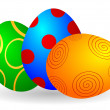 Vector illustration of Easter eggs — Image vectorielle