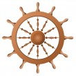 Ship wheel. Vector — Stock Vector
