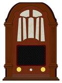 Vector artwork an old radio — Stock Vector