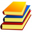 Vector image of a set of books — Stock Vector