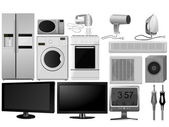Big collection of vector images of household appliances — Stock Vector