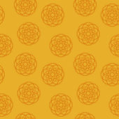 Seamless texture on an orange background — Wektor stockowy