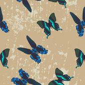 Seamless texture with beautiful butterflies — Stock Vector