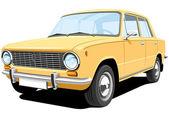 Yellow car — Stock Vector