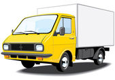 Delivery truck. — Stock Vector