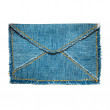Jeans envelope - Stock Photo