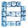 lettre alphabet de glace — Photo