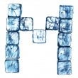 Ice alphabet letter - Stockfoto