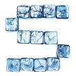 Ice alphabet letter - Stock Photo