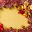 Abstract Christmas gold background — ストック写真