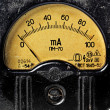 Vintage ancient voltmeter — Stock Photo