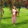 Royalty-Free Stock Photo: Pregnant woman in park