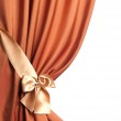 Silk Curtain over white — Stock Photo