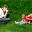 Royalty-Free Stock Photo: Happy young family enjoy outdoors