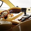 View of yacht cockpit on the deck. — Foto Stock