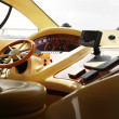 View of yacht cockpit on the deck. - Stock Photo