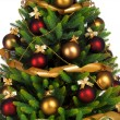 Decorated Christmas tree on white background — 图库照片 #7676402