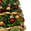 Decorated Christmas tree on white background — 图库照片 #7676404