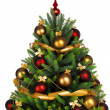 Decorated Christmas tree on white background — 图库照片 #7676407