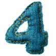 Handmade digit of jeans alphabet — Stock Photo #7676560