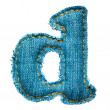 Handmade lowercase letter of jeans alphabet — Foto de Stock