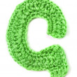 Letter of knit alphabet - Stock Photo