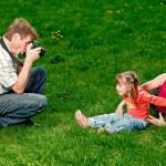 Happy young family enjoy outdoors — Stock Photo #7676712