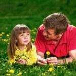 Happy young family enjoy outdoors — Stock Photo #7676717