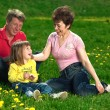Happy young family enjoy outdoors — Stock Photo #7676740