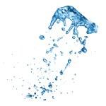 Blue water splash isolated on white background — Stock Photo #7676872