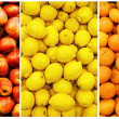 Collection of fruit and vegetable backgrounds - Photo